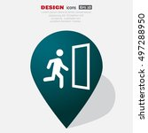 exit icon vector.  | Shutterstock .eps vector #497288950