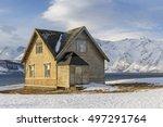 old wooden house on ullsfjord ... | Shutterstock . vector #497291764