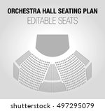 seating plan for a theater or... | Shutterstock .eps vector #497295079