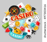casino gambling background... | Shutterstock .eps vector #497303416