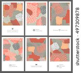 set of creative invitation... | Shutterstock .eps vector #497309878