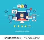 concept illustration   feedback ... | Shutterstock .eps vector #497313340