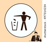 throw away the trash icon ... | Shutterstock .eps vector #497314234
