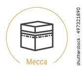 mecca  saudi arabia  outline... | Shutterstock .eps vector #497321890