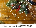 christmas decoration  holidays  ... | Shutterstock . vector #497325340