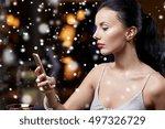 technology  christmas  winter... | Shutterstock . vector #497326729
