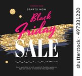 banners for the black friday... | Shutterstock .eps vector #497331220