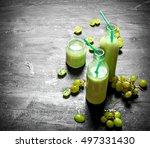 fresh grape smoothie bottles.... | Shutterstock . vector #497331430