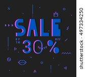black friday sale modern banner ... | Shutterstock .eps vector #497334250