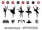 ballet icon set with ballet... | Shutterstock .eps vector #497335330