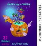 halloween.halloween party... | Shutterstock .eps vector #497337868
