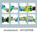 creative brochure design with... | Shutterstock .eps vector #497339908