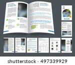 creative brochure cover design... | Shutterstock .eps vector #497339929