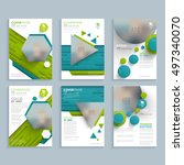 set of flyer cover page design... | Shutterstock .eps vector #497340070
