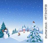vector cartoon illustration of... | Shutterstock .eps vector #497343958
