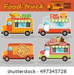 set of vector illustrations... | Shutterstock .eps vector #497345728