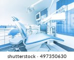 dental clinic interior with... | Shutterstock . vector #497350630