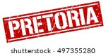 pretoria. grunge vintage... | Shutterstock .eps vector #497355280
