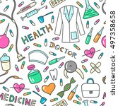 health care and medicine... | Shutterstock .eps vector #497358658