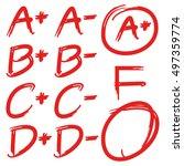 grade results | Shutterstock .eps vector #497359774