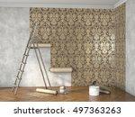 hang wallpaper  3d illustration  | Shutterstock . vector #497363263