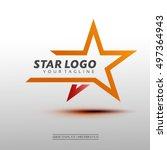 star logo vector. vector... | Shutterstock .eps vector #497364943