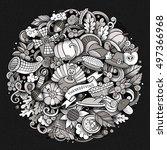 cartoon vector hand drawn...   Shutterstock .eps vector #497366968
