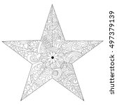 Star Coloring Book Vector...