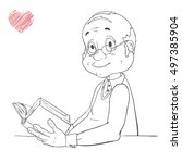 family member.cute cartoon... | Shutterstock .eps vector #497385904