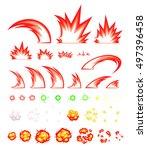 miscellaneous slash game... | Shutterstock .eps vector #497396458