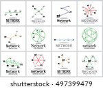 computer network icons set  ... | Shutterstock .eps vector #497399479
