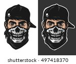 the guy in the bandana with a...   Shutterstock .eps vector #497418370