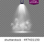 spotlight smoke | Shutterstock .eps vector #497431150