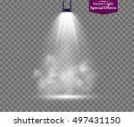 spotlight smoke | Shutterstock .eps vector #497431150