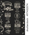 coffee menu placemat food... | Shutterstock .eps vector #497432074