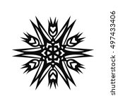 snowflake vector icon for... | Shutterstock .eps vector #497433406