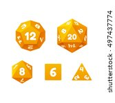 vector icon set of dice for... | Shutterstock .eps vector #497437774