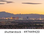 aerial view of las vegas strip...   Shutterstock . vector #497449420