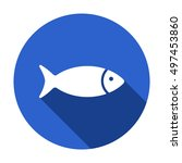 fish    icon   isolated. flat ... | Shutterstock .eps vector #497453860