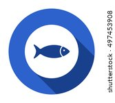 fish icon vector. flat design. | Shutterstock .eps vector #497453908