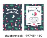 wedding invitation with... | Shutterstock .eps vector #497454460