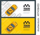 set of vector taxi service... | Shutterstock .eps vector #497458453