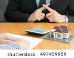 banks refuse loans to buy homes.... | Shutterstock . vector #497459959