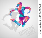 colorful silhouettes of