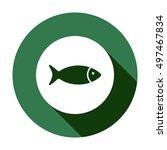 fish icon vector. flat design. | Shutterstock .eps vector #497467834
