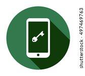 key icon. flat design. | Shutterstock .eps vector #497469763