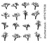trees on a white background.... | Shutterstock .eps vector #497475928