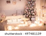 Christmas Tree In Pink Shabby...