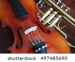 close up of musical instruments ... | Shutterstock . vector #497485690