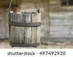 Old Wooden Bucket Of Water...